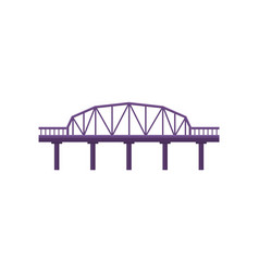 purple bridge on white background vector image