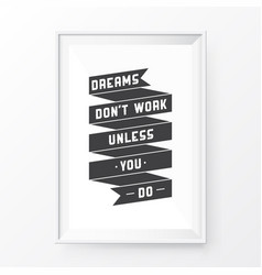 Quote poster frame vector