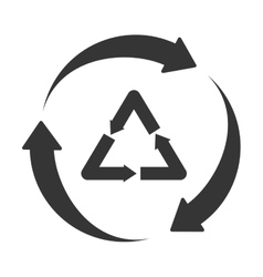Recycle reduse reuse icon vector