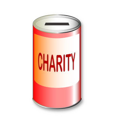 Round charity tin vector
