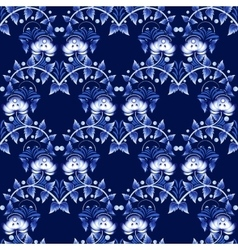 Seamless pattern in Gzhel style National ornament vector