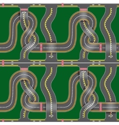 Seamless road map vector image