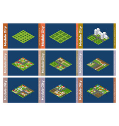 set of urban areas of modules vector image