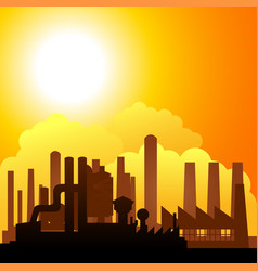Silhouette of factories vector