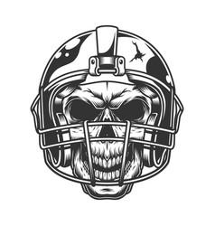 Skull in football helmet vector