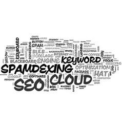 Spamdexing word cloud concept vector