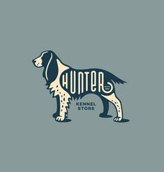 spaniel logo vector image