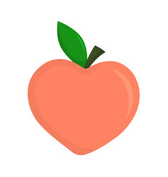 sweet peach isolated on white vector image