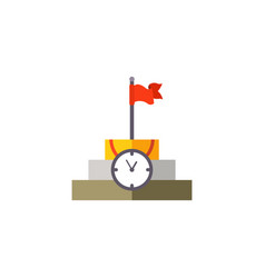 time management planning and control flat vector image