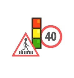 Traffic code limiting signs vector