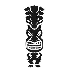 Tribal aztec idol icon simple style vector