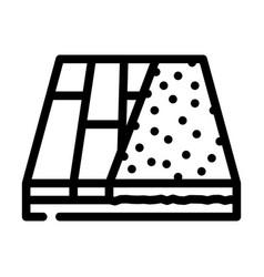 Various materials floor line icon vector