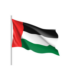 Waving flag of united arab emirates vector