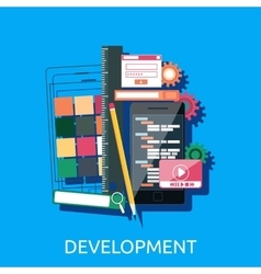 Web Development Concept vector image