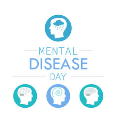 Depression mental disease icon vector