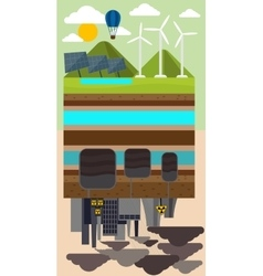Eco Concept and Environmental Pollution by Factory vector image