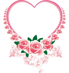 frame in the victorian style with roses and butter vector image