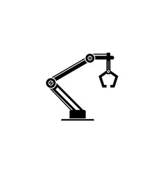 industrial machine robot arm icon vector image