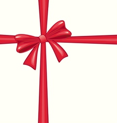 Red christmas bow vector image vector image