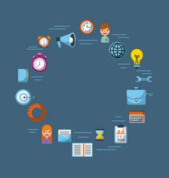 set of business element social media design blue vector image