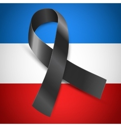 black mourning France vector image vector image