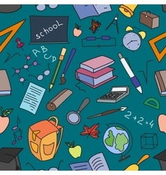 Doodle pattern of learning vector image vector image