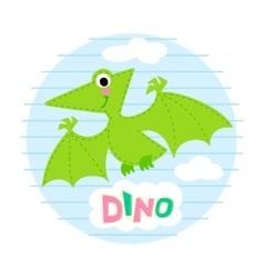 Flying dinosaur vector