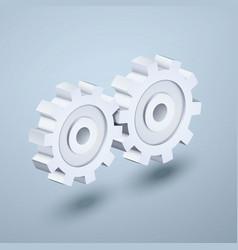 gears 3d icon vector image