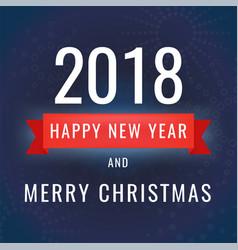 happy new year 2018 on dark vector image vector image