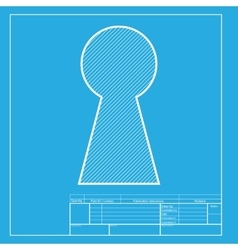 Keyhole sign White section of icon vector image vector image