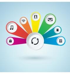 Multimedia Design Elements vector image vector image