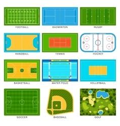 Game fields set vector