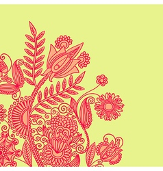 hand draw ornate floral background vector image vector image
