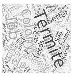 Termite Understanding Word Cloud Concept vector image