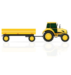tractor 05 vector image
