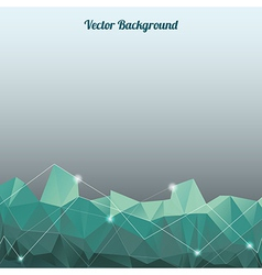 background with lines circles and shapes vector image