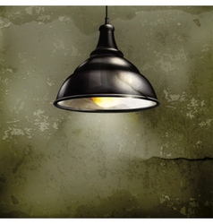 Black Lamp old-style vector image vector image