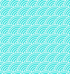 Curved lines in a seamless pattern vector image