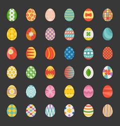 easter eggs set 3 flat design vector image