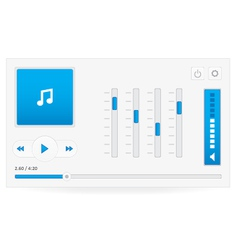 Music player 7 vector image vector image
