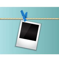 Photo hanging on a clothespin vector image