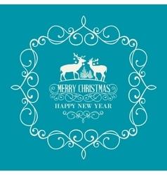 The Christmas postcard vector image
