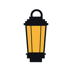 vintage street lantern lamp light design vector image