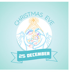 25 december christmas eve vector image