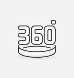360 degrees linear concept icon vector