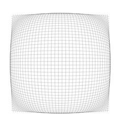 3d convex spherical globe orb protrude distortion vector
