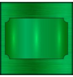 abstract brushed green award plate vector image