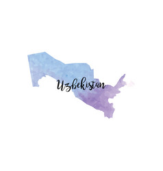 abstract uzbekistan map vector image
