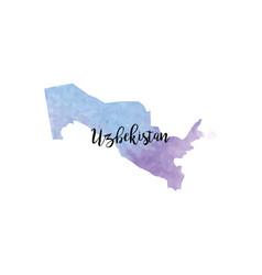 Abstract uzbekistan map vector