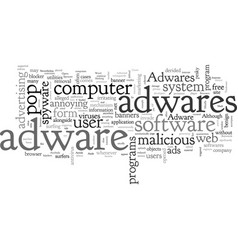 adware tale computer hijackers vector image